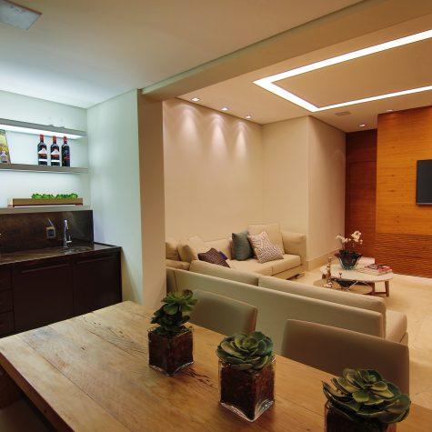 Salas e varanda integrada